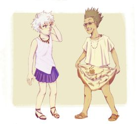 boys in dresses by affectionateTea