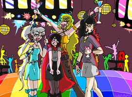 Rwby at Da Club by SaintsSister47