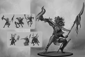 Concept art sheet- Goblin by Fenrir--the-2nd