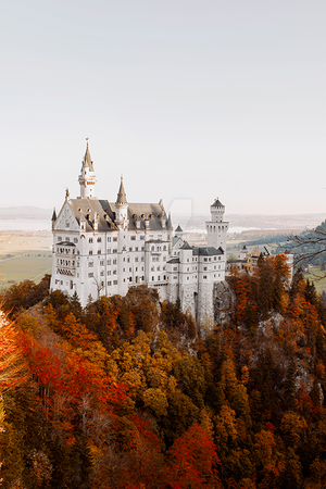 Castle in fall by thefirebomb