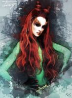 Painting Poison Ivy by kawl4sure
