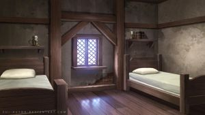 Bedroom of tavern by Vui-Huynh