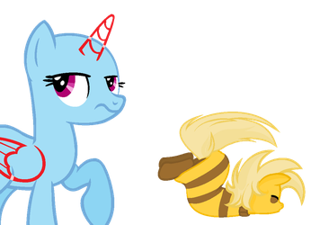 Pony Monster Kid x OC Collab by SnowySeal