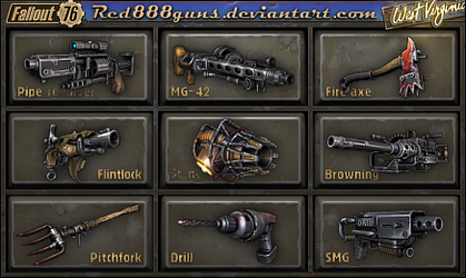 Fallout 76 weapons for classic Fallout by Red888guns