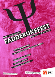 PSI: Fadderukefest - Poster by the-ruthless
