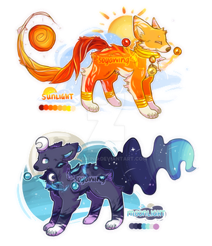 [Auction | CLOSED] | Sun and Moon by soyawing