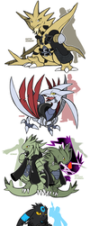 New Pocket Monsters of Organization XIII by SoftMonKeychains
