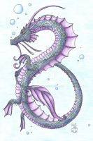 Swimming Water Dragon by Scellanis