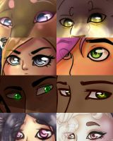 Many eyes [that eye meme thing] by Blarien