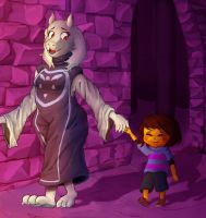 Undertale - Frisk and Toriel by Reborn-Vagabond