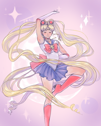 New Sailor Moon Fanart by TaylorThiesArt