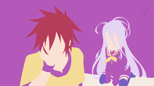 No Game No Life - Sora and Shiro by Krukmeister