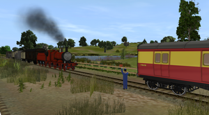 Eagle Was Stop By Another Train by EngineNumber14