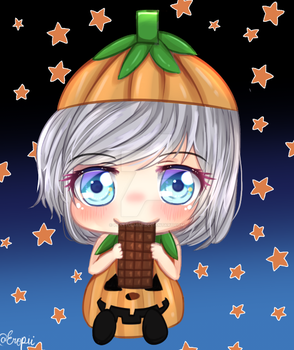Chibi Pumpkin Rui by playfulmimi