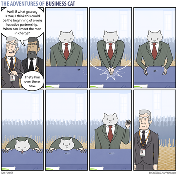 The Adventures of Business Cat - Networking by tomfonder