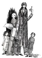 Fourth Doctor and Mrs Wibbsey by herbertzohl