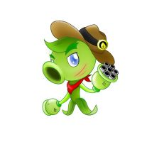 PvZ Heroes Fanmade: Sheriff Galting Pea by JackieWolly