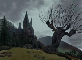 Whomping Willow by LovelyHufflePuff