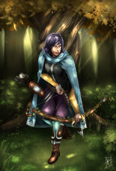 Last of the order, blue archer Towerfall by Yakimura-Art