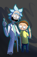 Bonding time with grandpa Rick! by Werewolf9595