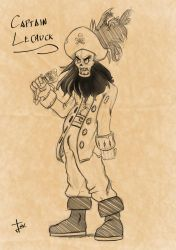 The pirate Lechuck Sketch by SRProductions