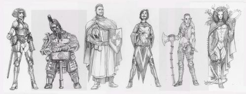 Line work for DnD examples by SickJoe