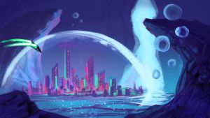 Sketch#79 - Underwater City by Colormate