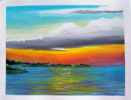 sunset watercolor by TomKilbane