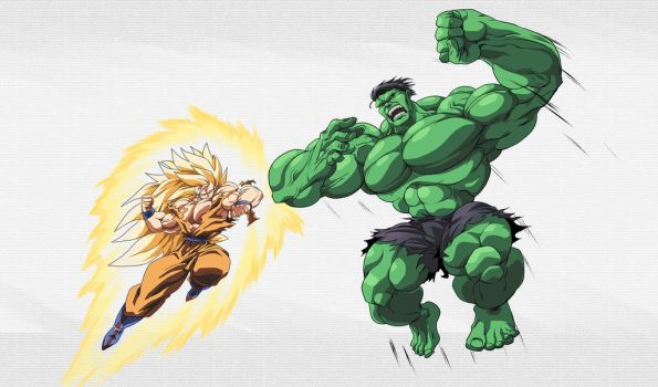 Stream Commission -ussj3goku and Hulk Punchout by PhantomStudio-Tommy