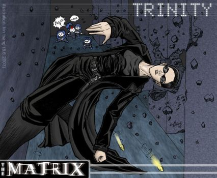 The Matrix - Trinity by k1n