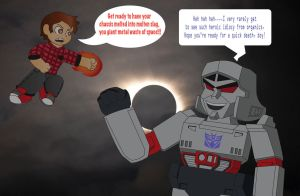 Contest3:Glooms vs 80s Villains-Raymen vs Megatron by ShadowtheCartoonist