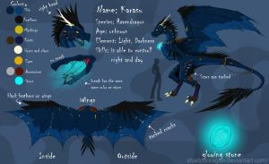 Karasu ref-sheet by ShadoDoragon