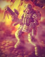 The heavy infantryman by Likozor