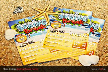 Spring Break Flyer by razr-designs