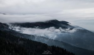 Mountain Hidden In Clouds (Zywiec Beskids) by re-pip