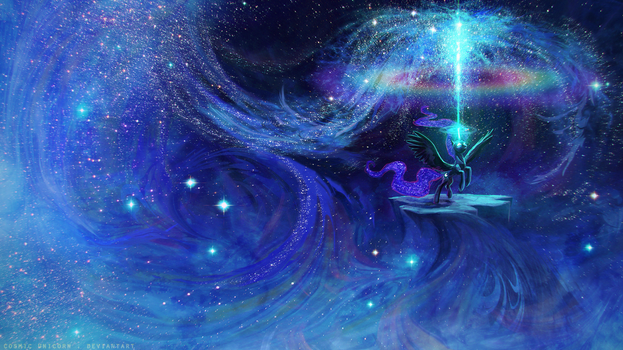 noctilucent fountain by CosmicUnicorn