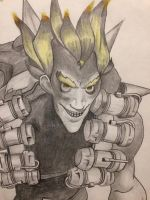 Junkrat - Overwatch Selective Color Series by hyoostin