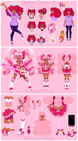 Valerie Amaranth/ Diamond Heart Reference Sheet by PastelPyon