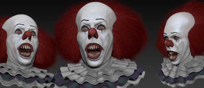Pennywise (IT) Zbrush Update by FoxHound1984