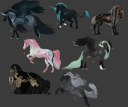 Adoptables - Ends 7/30/2016 by THE-WEATHERED-RAVEN