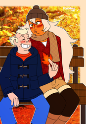 Jandy Week Day 5: Autumn Afternoon by RoseMary1315
