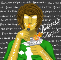 Andrew Hussie Painting Thing by Lolalilacs