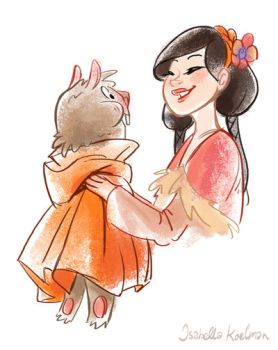 Snowwhite and Marmot by koel-art