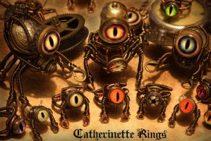 My Steampunk Robot Minion Army is growing ! by CatherinetteRings