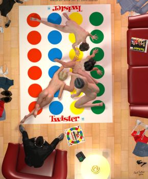 Anyone for Naked Twister! by DevilishlyCreative