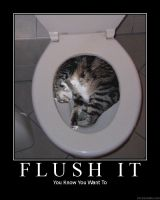 Flush Da Cat by Dabigbadwolf113