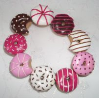 Pink doughnut bracelet 2 by PORGEcreations