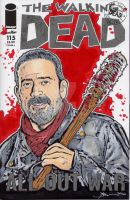 Walking Dead Negan Sketch Cover by sullivanillustration