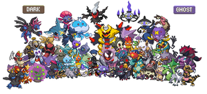 All Dark and Ghost Pokemon