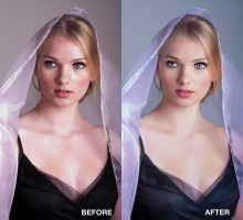 Practice of retouch girl portrait. by mysweetheartolg